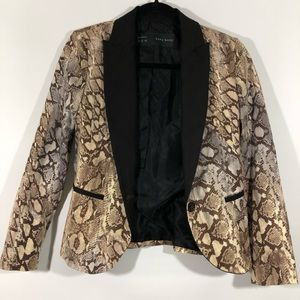 Zara • Snakeskin Tuxedo Print Blazer